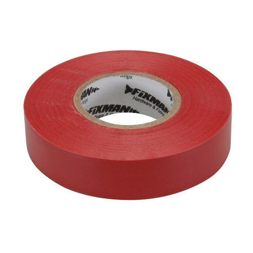 Fixman 191784 Electrical Insulation Tape 19mm x 33m Red